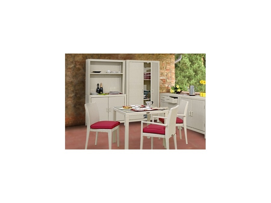 RE GARDEN S.R.L. ARMADIO A 2 ANTE IN WICKER BEIGE RE GARDEN