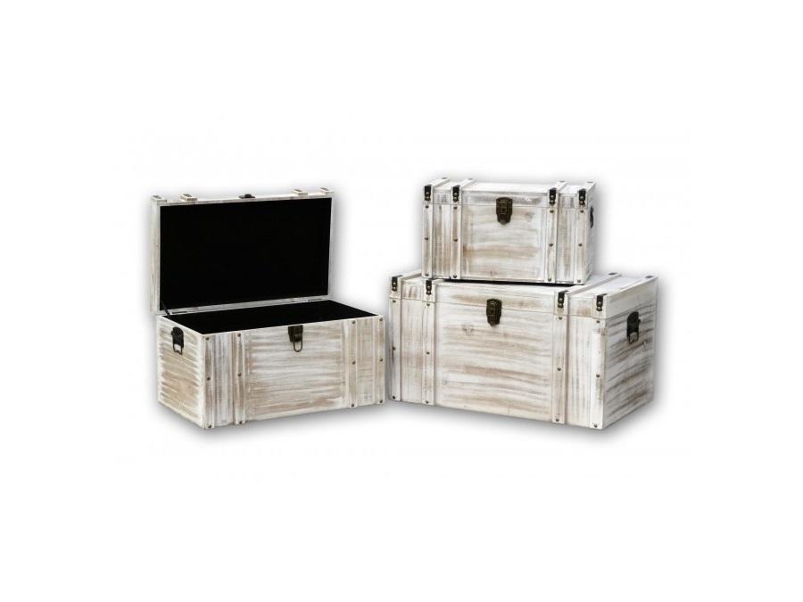 Baule in legno bianco