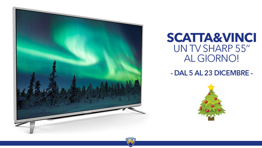 Scatta e vinci un TV Sharp 55''!