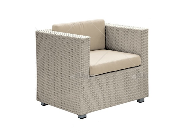 Poltrona S.Diego Re Garden, wicker bianco