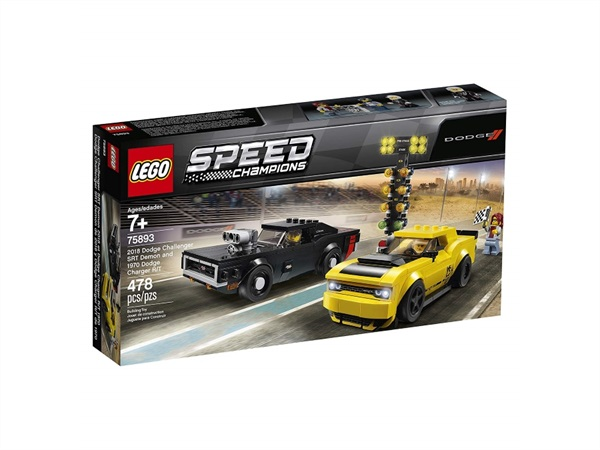 Lego speed champions 2018 Dodge Challenger SRT Demon e 1970 Dodge Charger R/T 75893