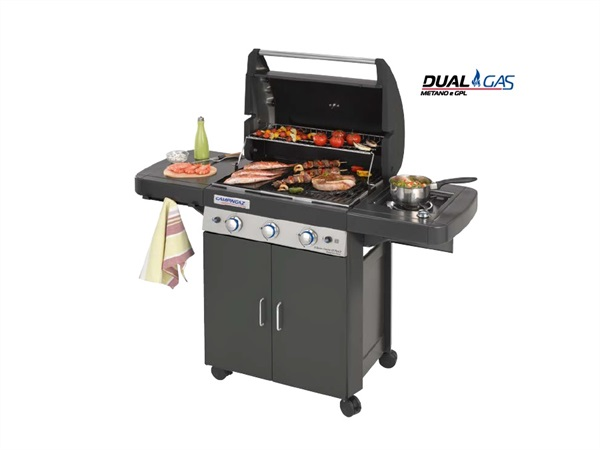 Barbecue 3 SERIES LS PLUS , dual gas Metano/GPL