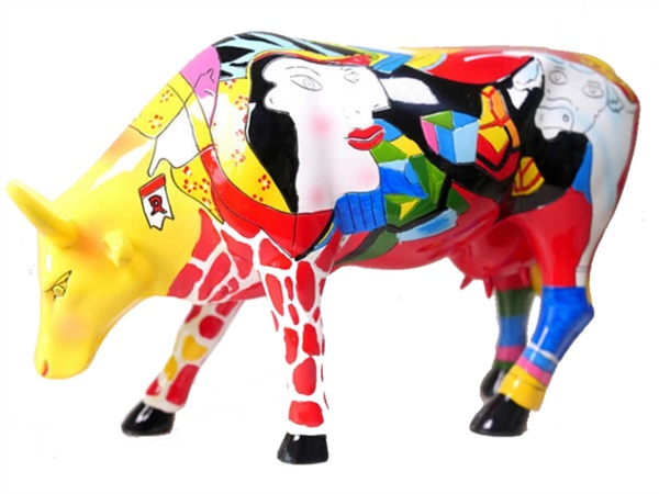 COWPARADE hommage to picowsso's african period