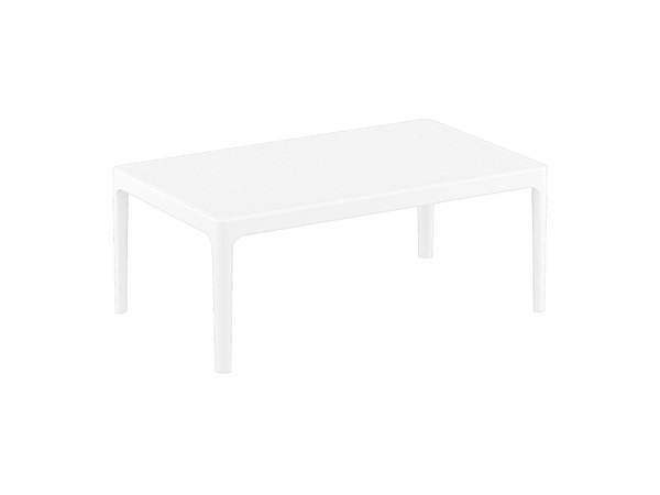 Tavolino lounge Sky 100x60x40 cm in polipropilene color bianco