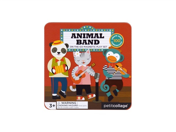 PETIT COLLAGE Animal Band - set da gioco magnetico