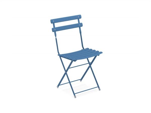 Tavoli E Sedie Da Giardino Emu.Arc En Ciel Sedia Pieghevole Emu 314 Azzurro
