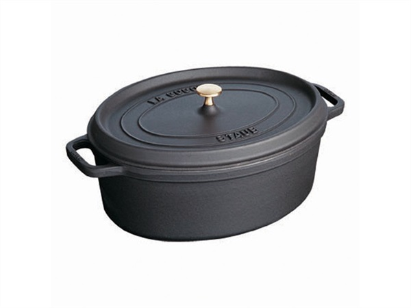 STAUB Cocotte Ovale 27 cm Nera in Ghisa