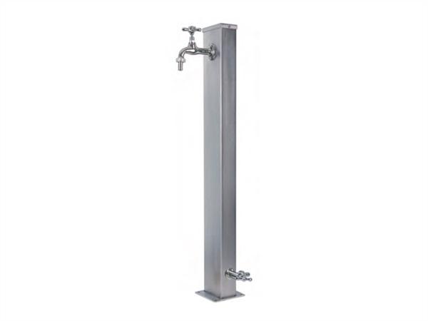 Modello 42// PRS Alluminio BEL FER Fontana da Giardino a Parete con Due rubinetti e Secchio Rimovibile Completa di Porta Gomma
