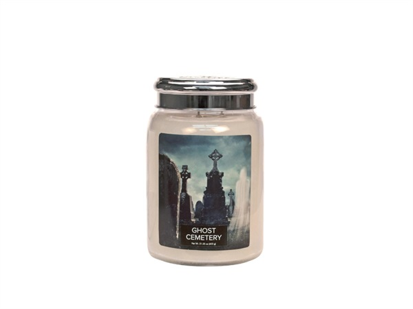 VILLAGE CANDLE Candela profumata village candle®, Halloween ghost cemetery 26 OZ /737 G