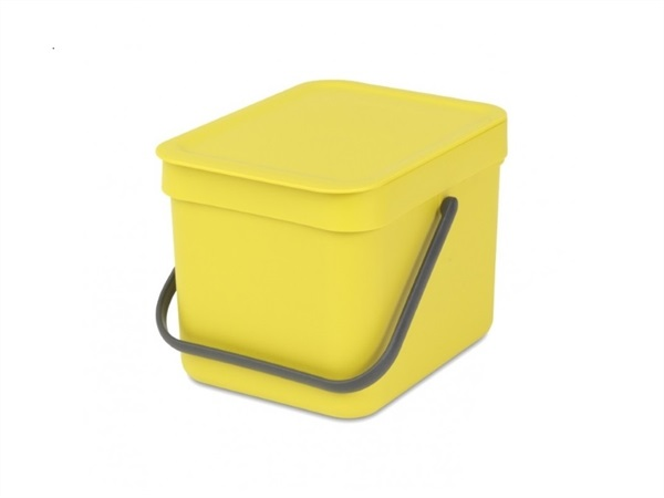 BRABANTIA Pattumiera sort & go - 6 lt - yellow