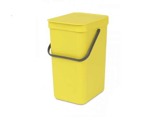 BRABANTIA Pattumiera sort & go - 12 lt - yellow