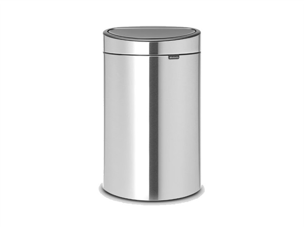 BRABANTIA TOUCH BIN NEW RECYCLE pattumiera 23 + 10 litri - Matt Steel