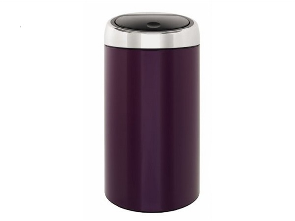 Pattumiera touch bin 45 lt in accio inox - viola