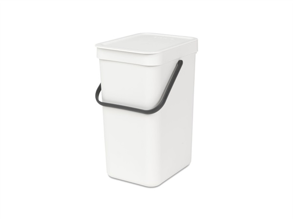 BRABANTIA Pattumiera sort & go - 12 lt - white