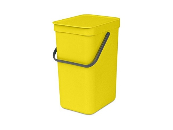 BRABANTIA Pattumiera sort & go - 16 lt - yellow