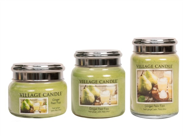 VILLAGE CANDLE Candela profumata Village Candle®, Ginger Pear Fizz