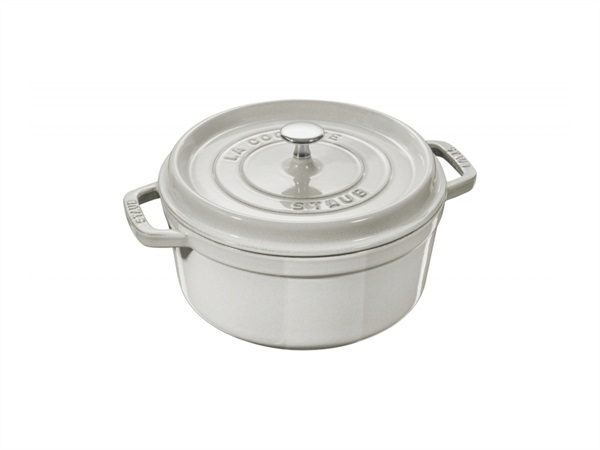 STAUB Cocotte 28 cm White Truffle in Ghisa