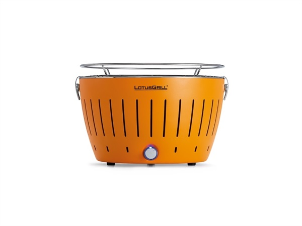 Barbecue da tavolo a carbonella con sistema brevettato antifumo LotusGrill® - Orange