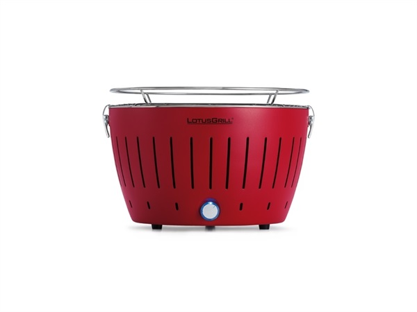 Barbecue da tavolo a carbonella con sistema brevettato antifumo LotusGrill® - Red