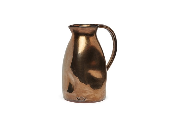 DUTCHDELUXES Dented jug, caraffa platino