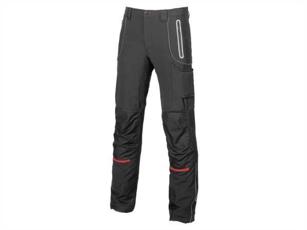 Pantalone softshell pit u-power black carbon sy008bc