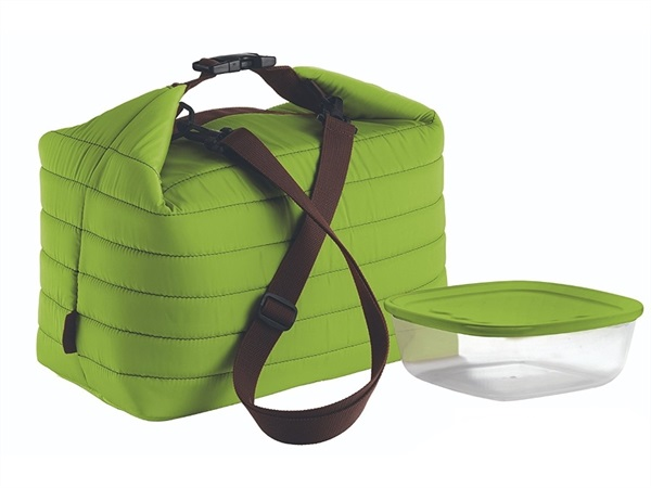 FRATELLI GUZZINI S.P.A. Borsa termica grande con contenitore salvafreschezza Handy On the Go verde