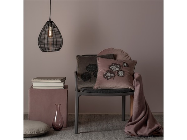 MAISON SUCREE Flowers, cuscino 40x40 cotto con interno