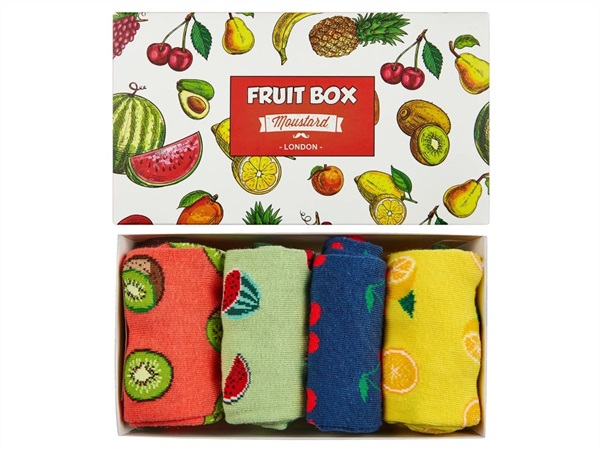 MOUSTARD Box Fruit, 4 paia di calzini 36-40