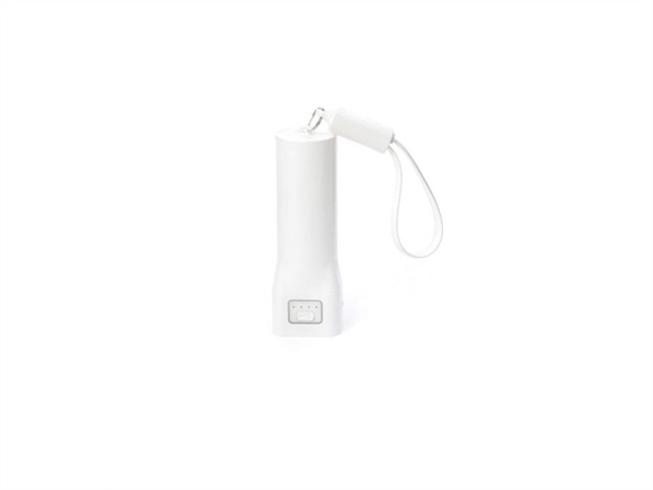 Torcia bianca con cavo microusb - kikkerland us134-wh