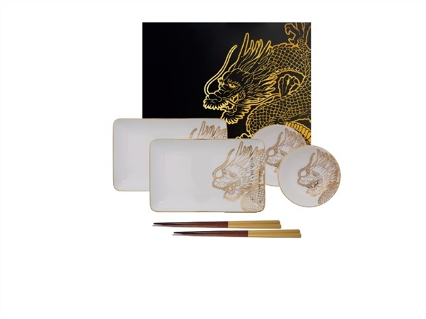 Set Sushi Nippon Gold Dragon -  Limited Edition Set 6pz