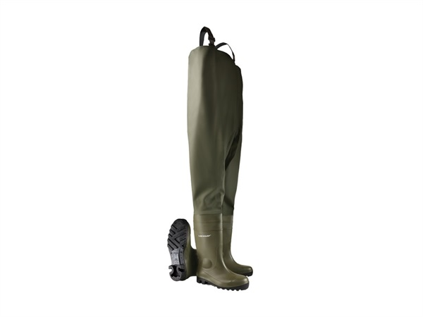 DUNLOP Stivale Protomastor Chest Wader Full Safety Verde scuro/nero