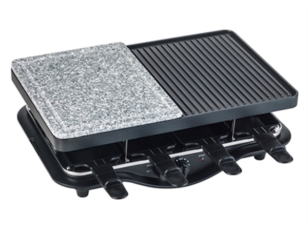 GRILL RACLETTE TECHNO COLLECTION IN ALLUMINIO, MARMO E PLASTICA PP BRANDANI