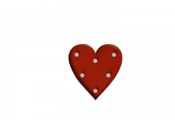 TRADING GROUP Mini metal heart, Pulp, Cuore con luci rosso,Pusher