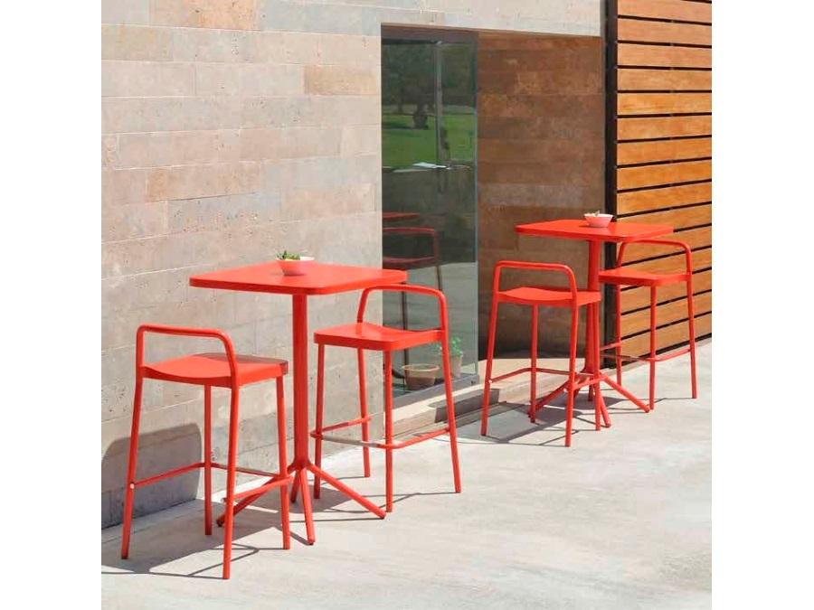 Emu grace tavolo alto pieghevole emu 70 x 70 cm rosso 50 acquista
