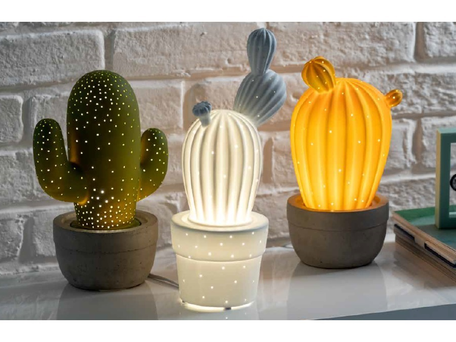 Brandani Gift Group S A S Lampada Cactus Bianca Porcellana Brandani Acquista Su Ferramenta Vanoli