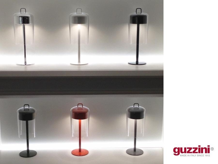 Guzzini Illuminazione Per Esterni.Lampada Da Tavolo Senza Fili Ricaricabile Soiree Guzzini Black