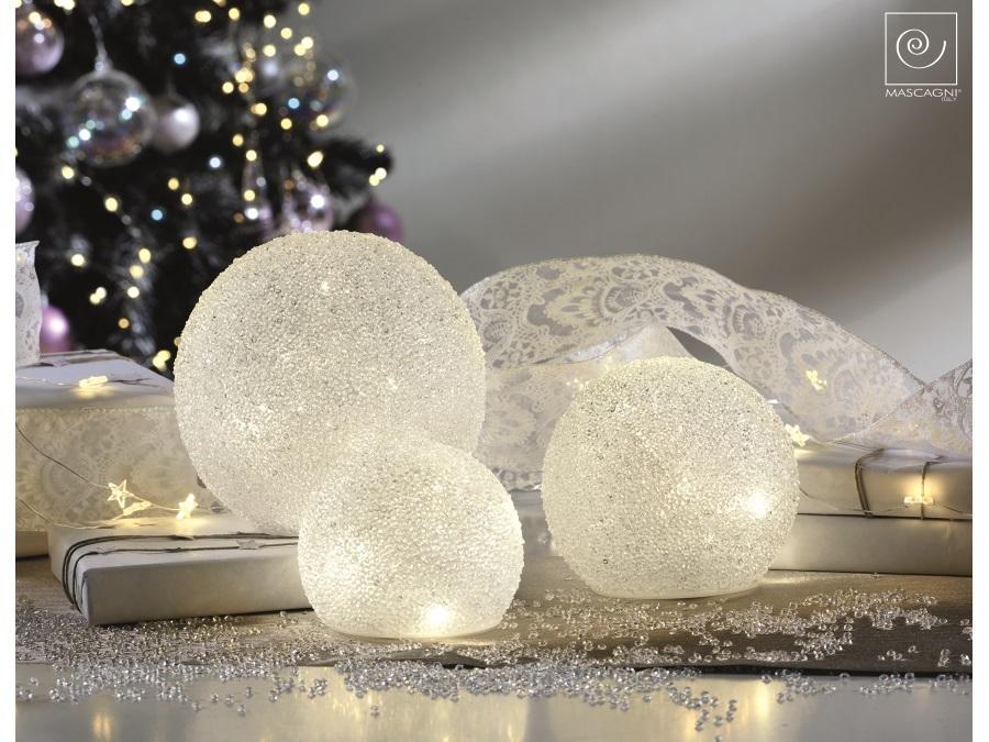 Globo sfera trasparente da giardino da con lampada led