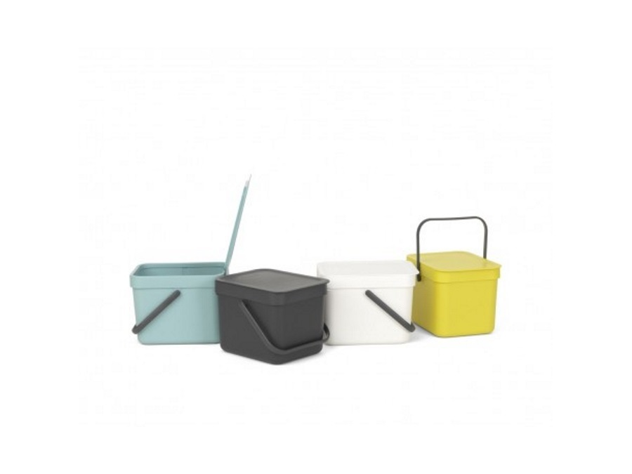 BRABANTIA Pattumiera sort & go - 6 lt - mint